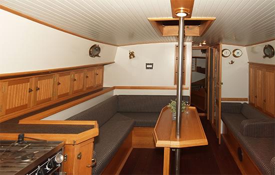 Plattbodenschiff Blauwe Heks - unter Deck