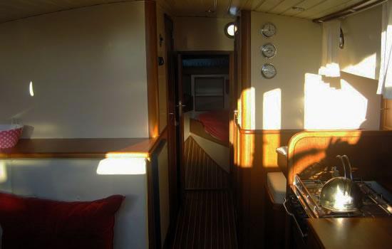 Plattbodenschiff Elisabeth - unter Deck
